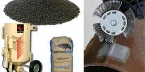 Abrasivos, sandblasting y bristle blasting