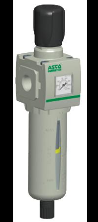 Filtro regulador de partículas, es parte de los equipos / productos para neumática distribuidos en Costa Rica por Tecnosagot S.A.