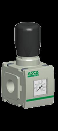 Regulador neumático marca ASCO Numatics; es parted de los equipos y productos para neumática distribuidos en Costa Rica por Tecnosagot S.A.