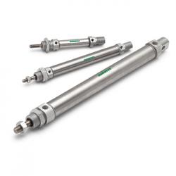 Cilindros estándar intercambiables ISO 6432 marca ASCO Numatics, parte de los equipos / productos distribuidos en Costa Rica por Tecnosagot S.A.